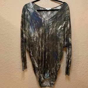 Helmut Lang Green Cocoon Top Tunic